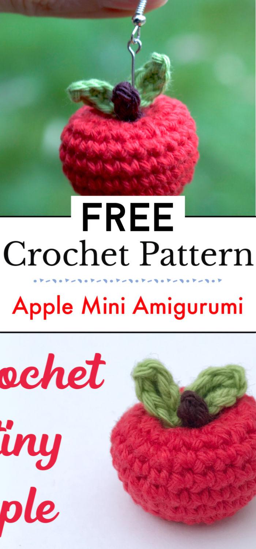 Crochet Apple Free Mini Amigurumi Pattern