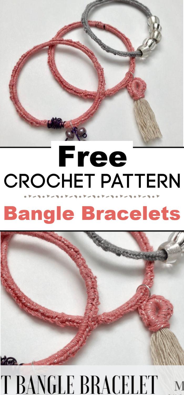 Crochet Bangle Bracelets