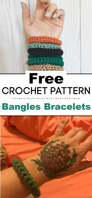 Crochet Bangles Bracelets Pattern