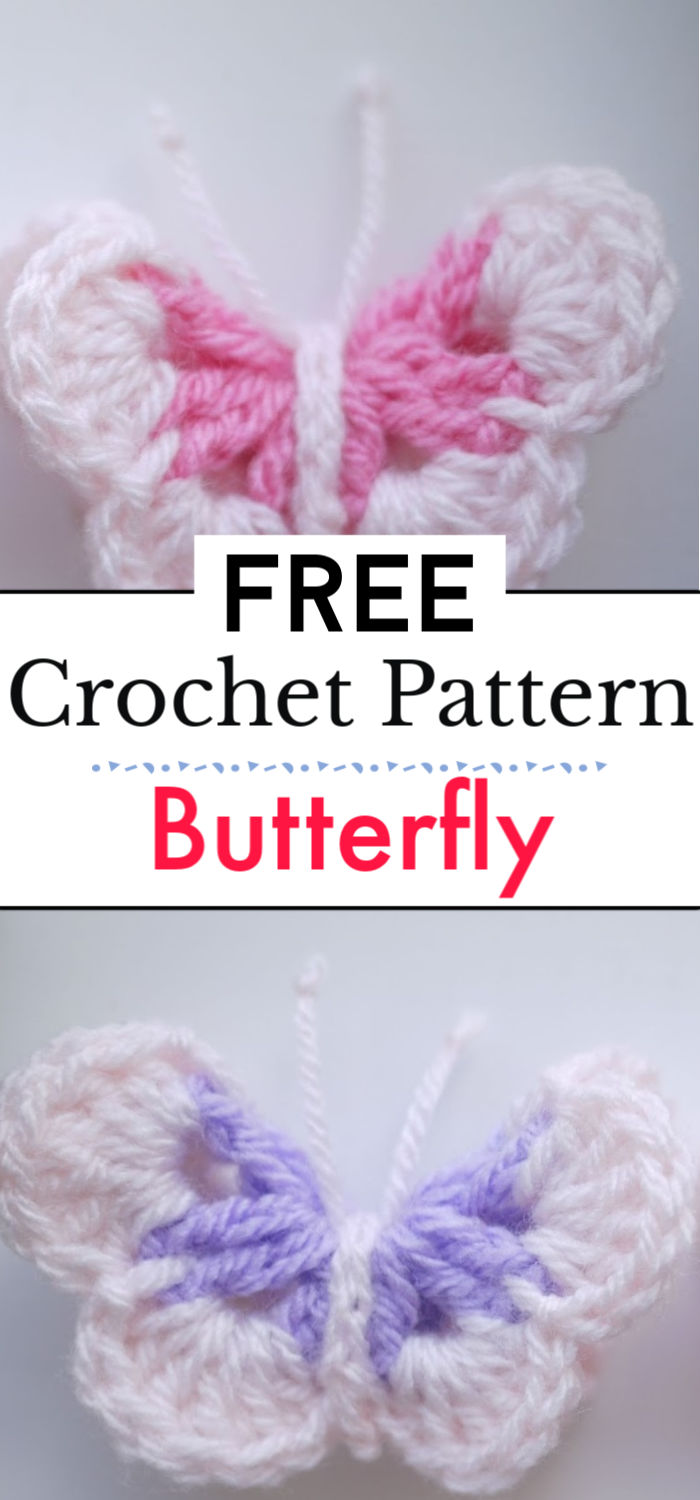 Crochet Butterfly Pattern 1
