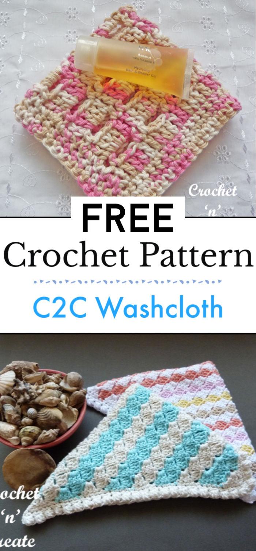 Crochet C2C Washcloth