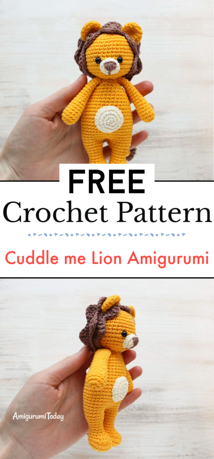 Crochet Cuddle me Lion Amigurumi Pattern