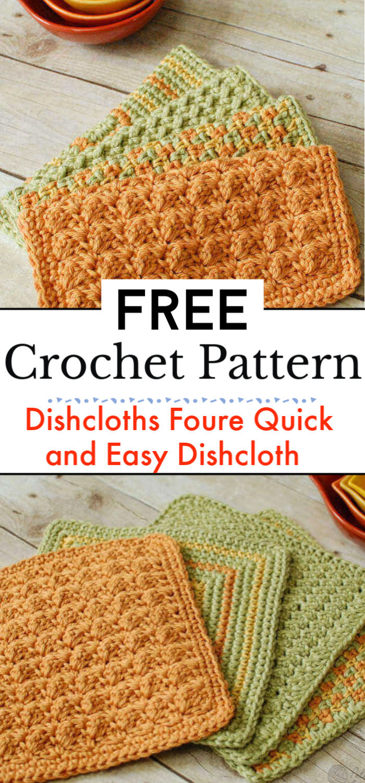 Crochet Dishcloths Foure Quick and Easy Crochet Dishcloth Patterns