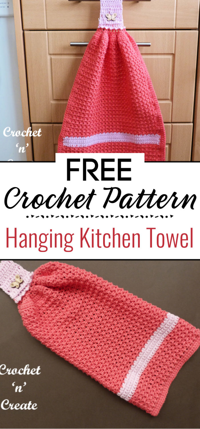 Crochet Hanging Kitchen Towel
