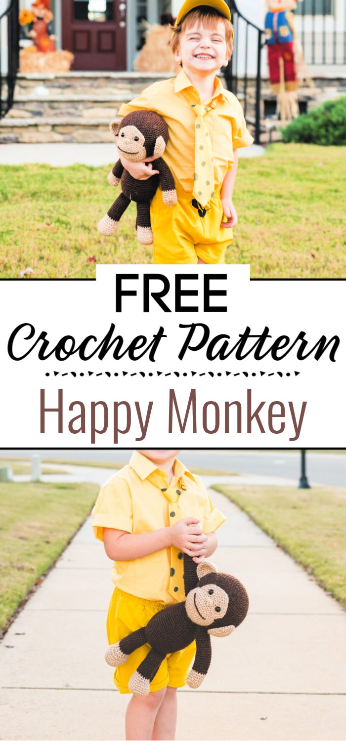 Crochet Happy Monkey
