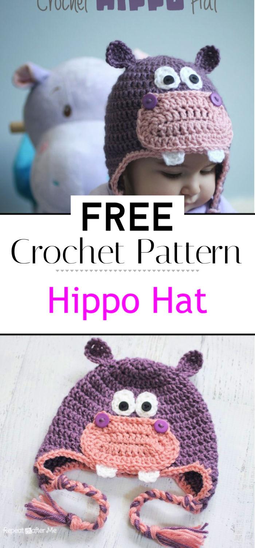 Crochet Hippo Hat Pattern