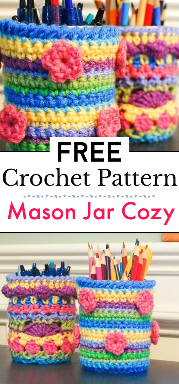 Crochet Mason Jar Cozy Pattern 1