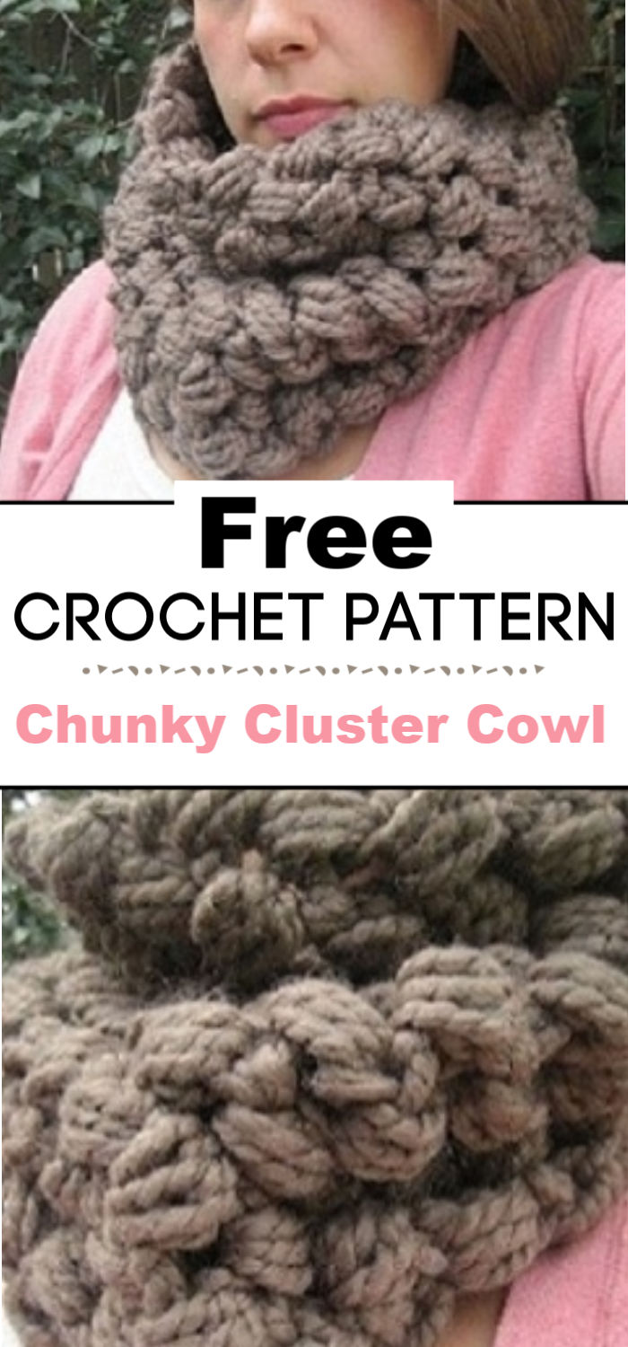 Crochet Pattern Chunky Cluster Cowl
