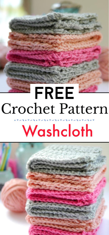 Crochet Washcloth Pattern Free