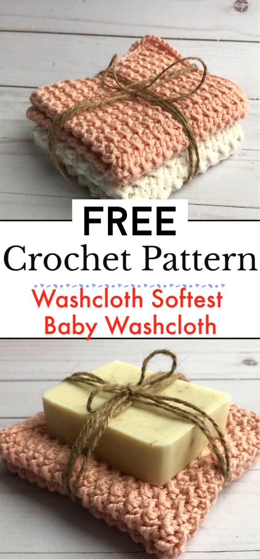 Crochet Washcloth Softest Crochet Baby Washcloth