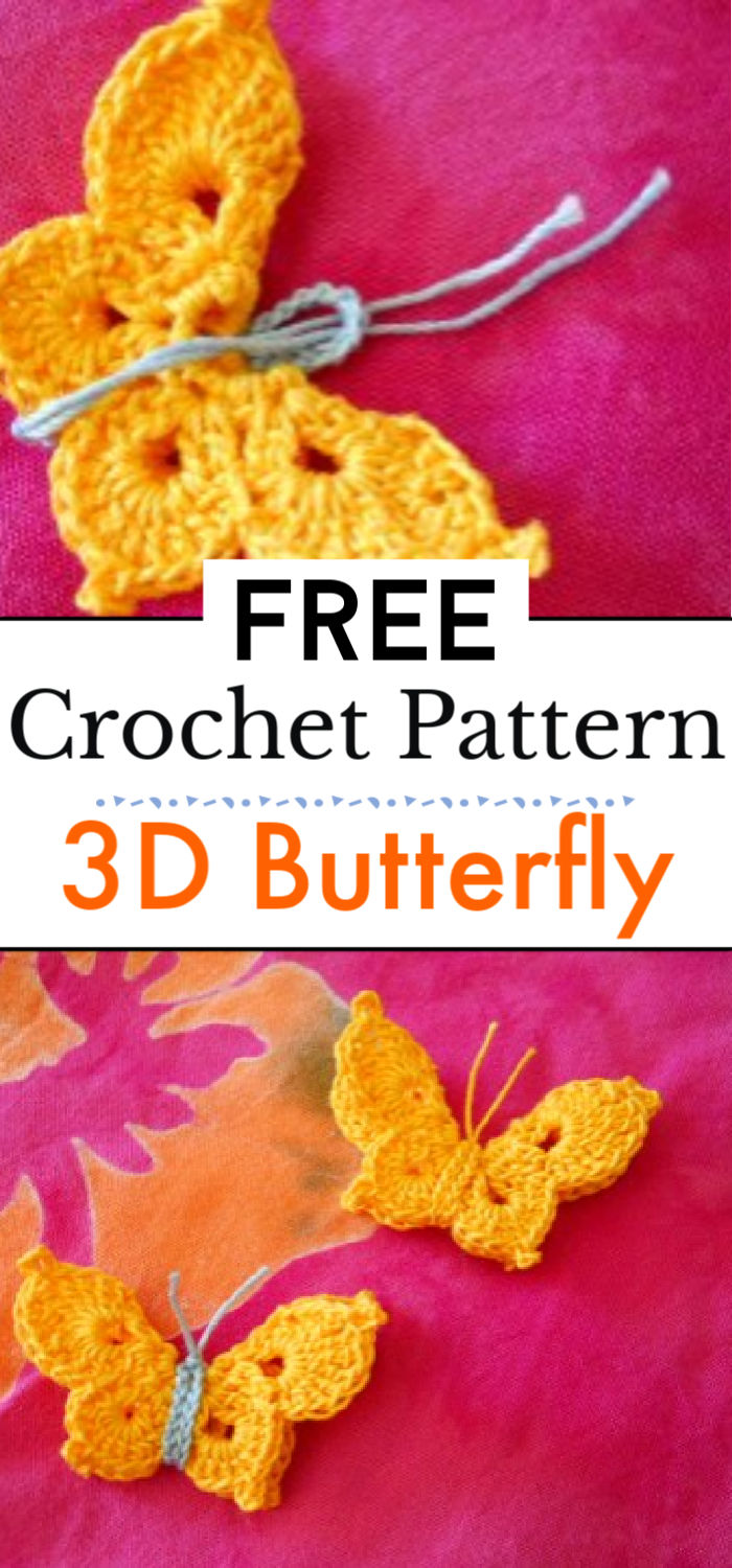 Crocheted 3D Butterfly
