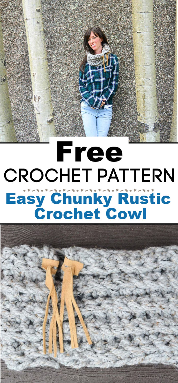 Easy Chunky Rustic Crochet Cowl