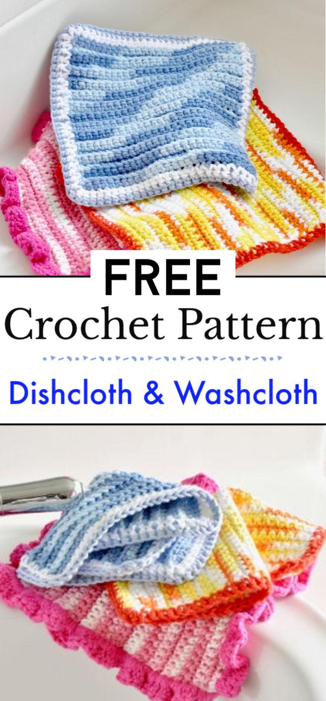 Easy Crochet Dishcloth Washcloth