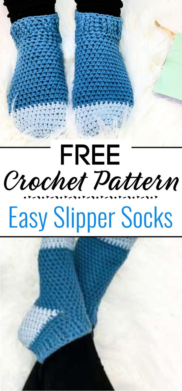 Easy Crochet Slipper Socks Free Pattern