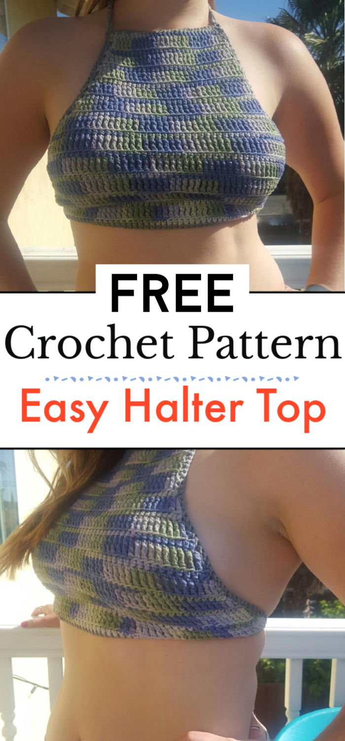 Easy Halter Top and Free Pattern