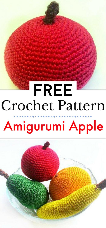 Free Crochet Pattern Amigurumi Apple