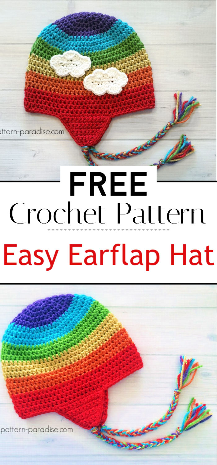 Free Crochet Pattern Easy Earflap Hat