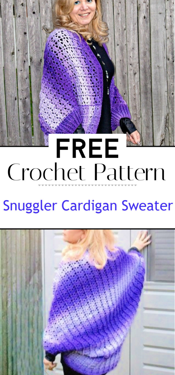 Free Crochet Pattern Snuggler Cardigan Sweater