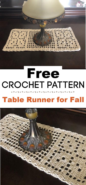 Free Crochet Table Runner Pattern for Fall