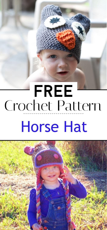 Free Pattern Horse Hat