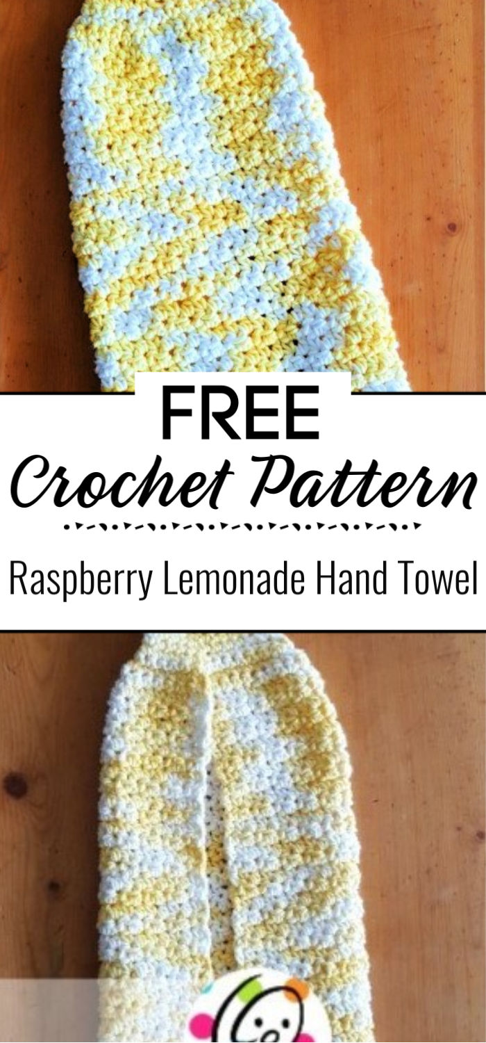 Free Pattern Raspberry Lemonade Hand Towel