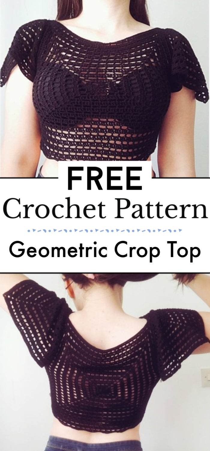 Geometric Crop Top Free Crochet Pattern