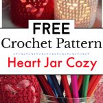 Heart Jar Cozy Free Ccochet Pattern