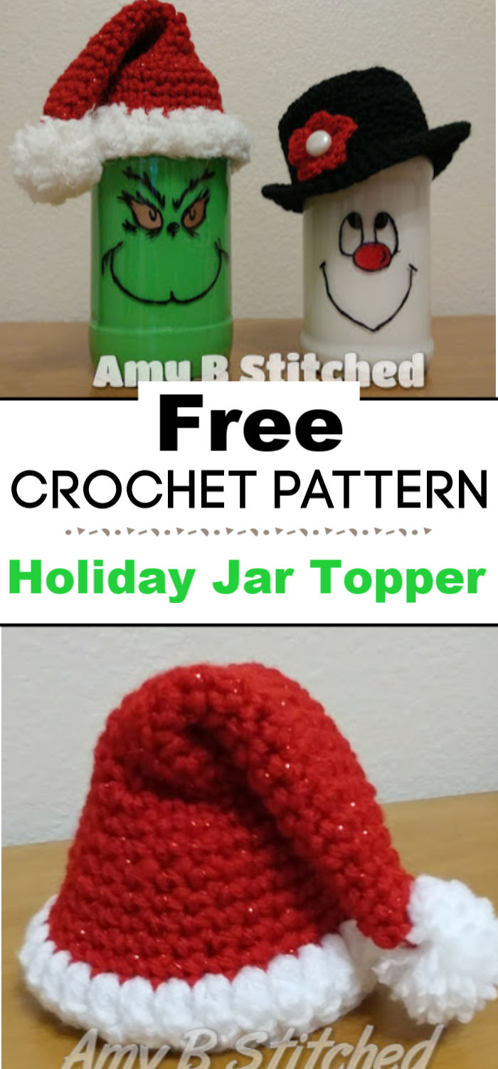 Holiday Jar Topper Crochet Patterns free