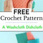 How To Crochet A Washcloth Free Crochet Dishcloth Patterns
