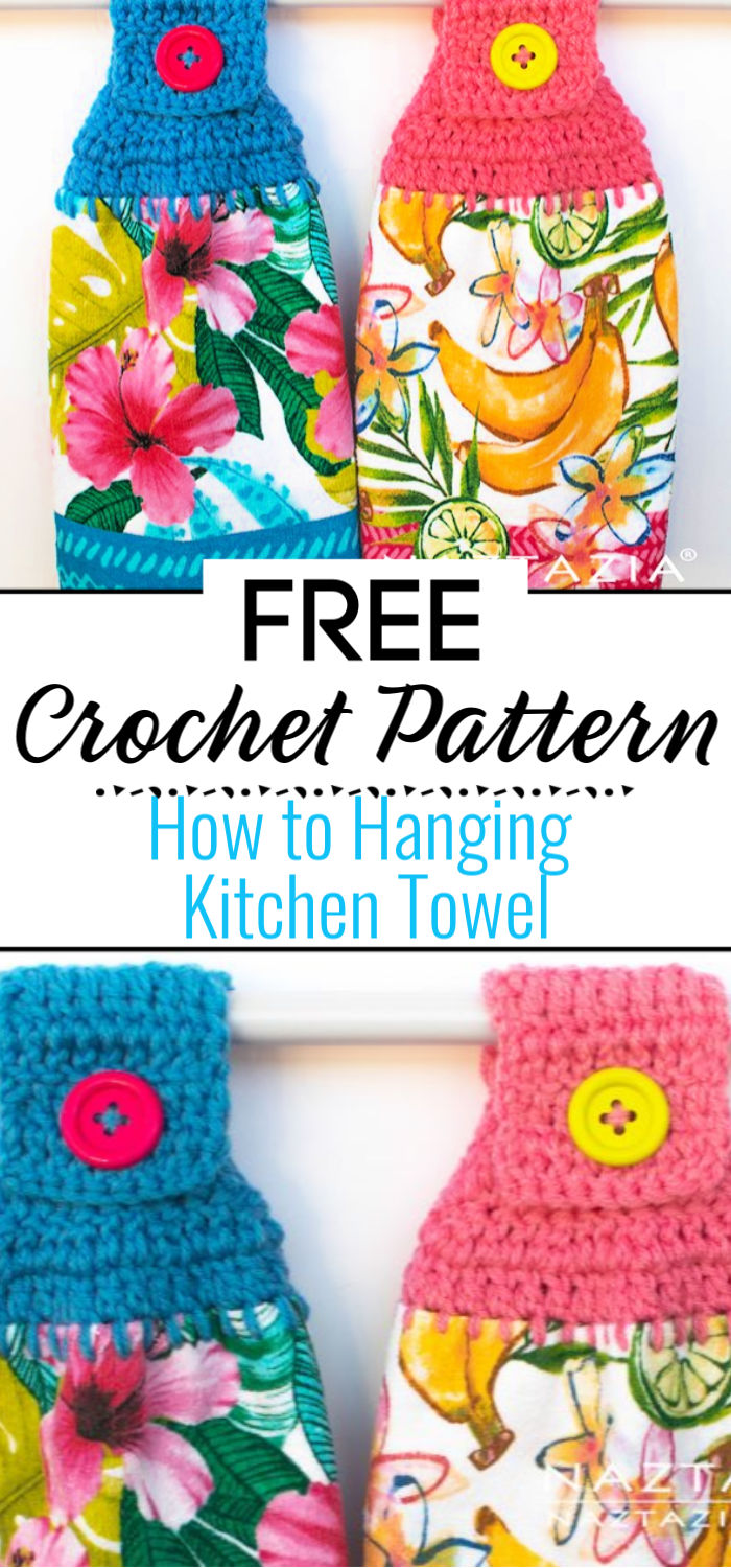 How to Crochet Hanging Kitchen Towel