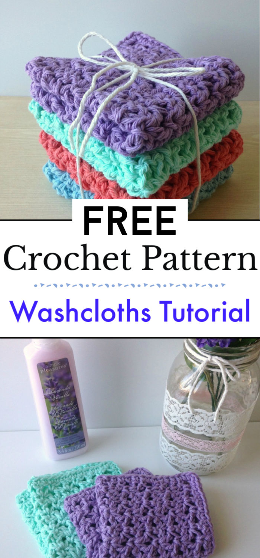 How to Crochet Washcloths Tutorial