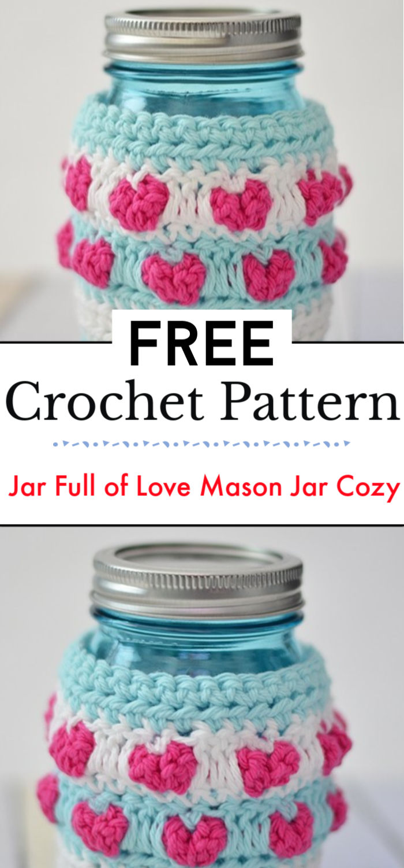 Jar Full of Love Mason Jar Cozy