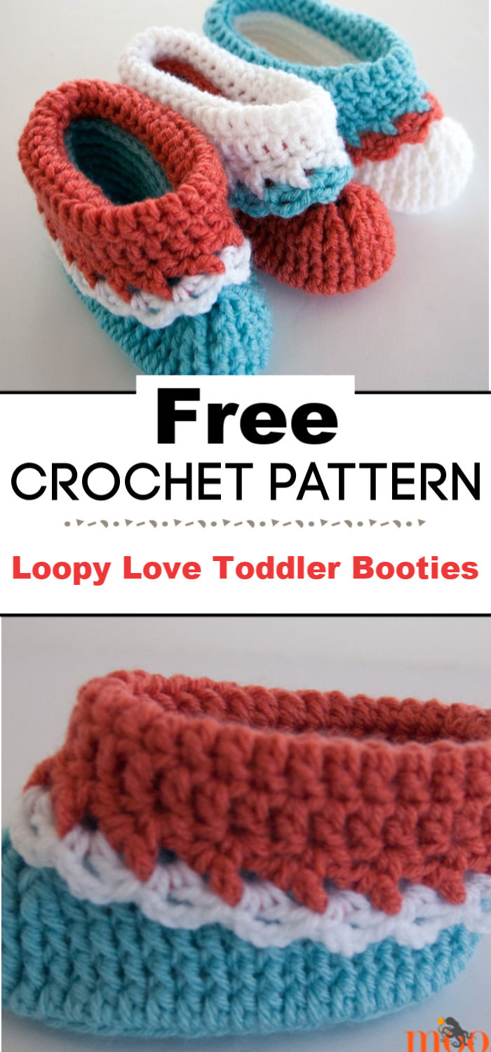 Loopy Love Toddler Booties