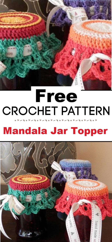 Mandala Jar Topper Free Pattern