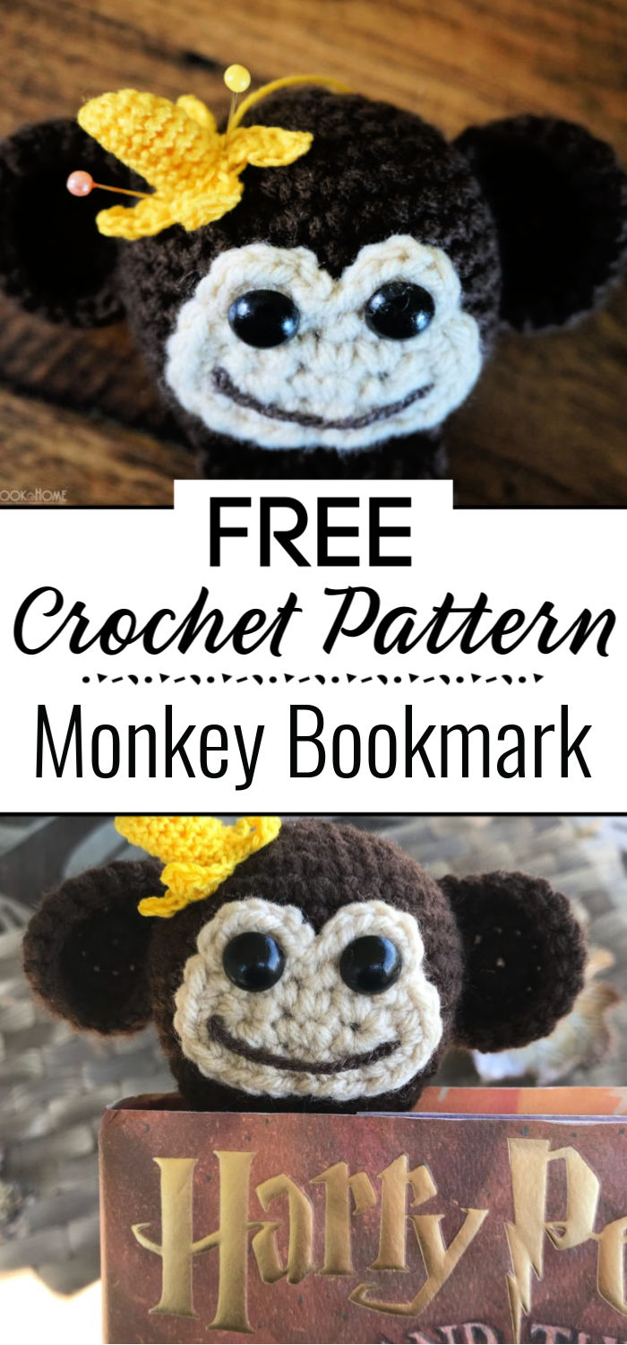 Monkey Bookmark Free Crochet Pattern