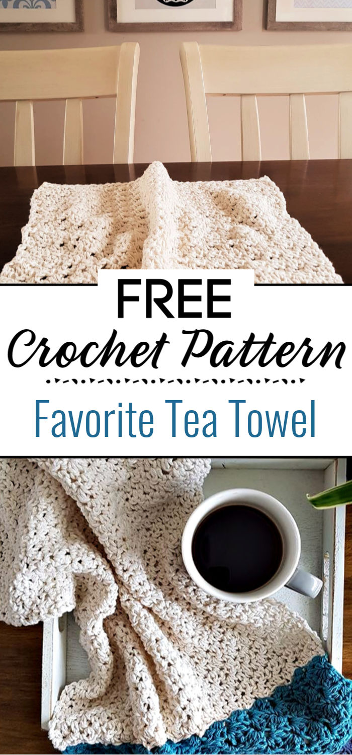 My Favorite Tea Towel Free Pattern