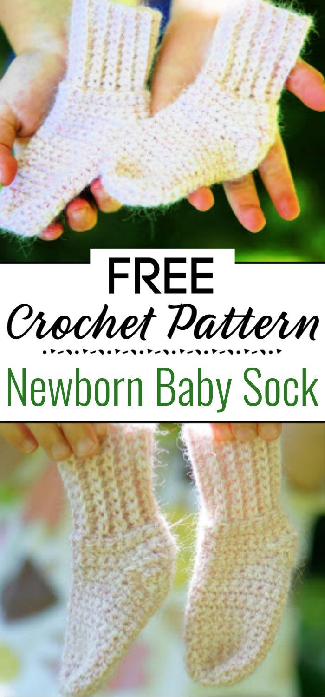 Newborn Baby Sock Crochet Pattern
