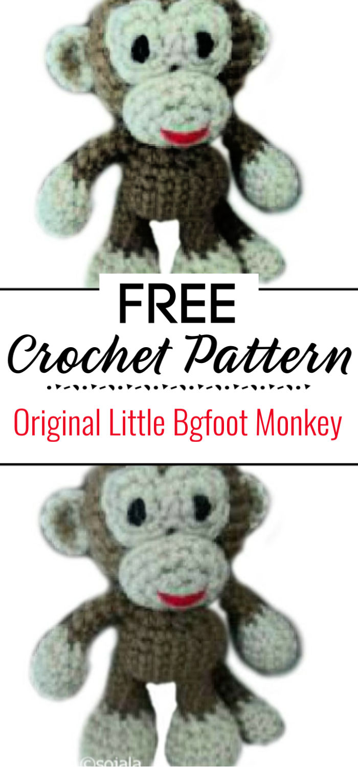 Original Little Bgfoot Monkey Free Crochet Pattern