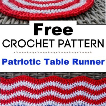 Patriotic Table Runner Free Crochet Pattern