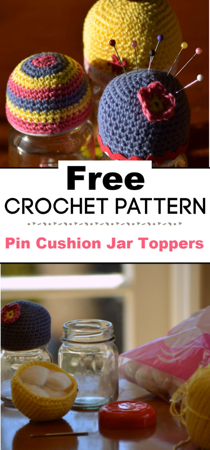 Pin Cushion Jar Toppers