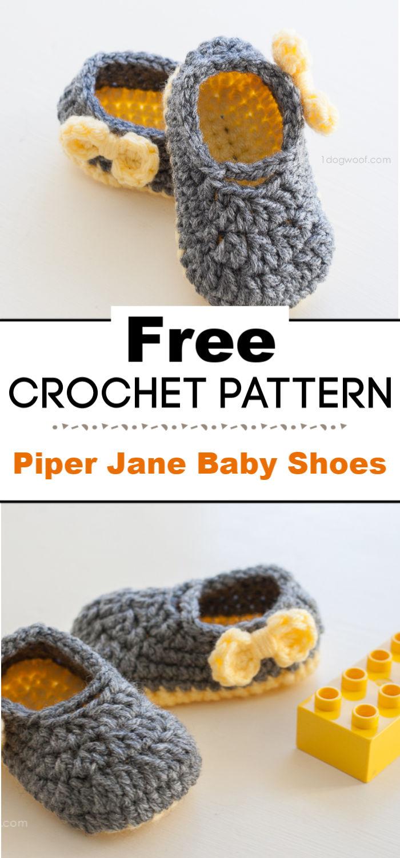 Piper Jane Baby Shoes Crochet Pattern