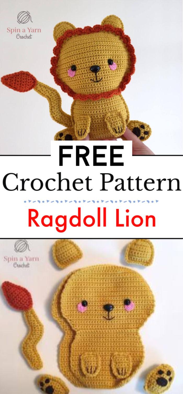 Ragdoll Lion Free Crochet Pattern
