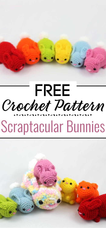 Scraptacular Bunnies Free Crochet Pattern