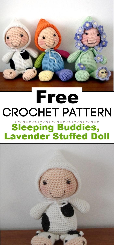 Sleeping Buddies Lavender Stuffed Doll