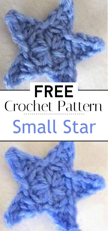 Small Star Free Crochet Pattern