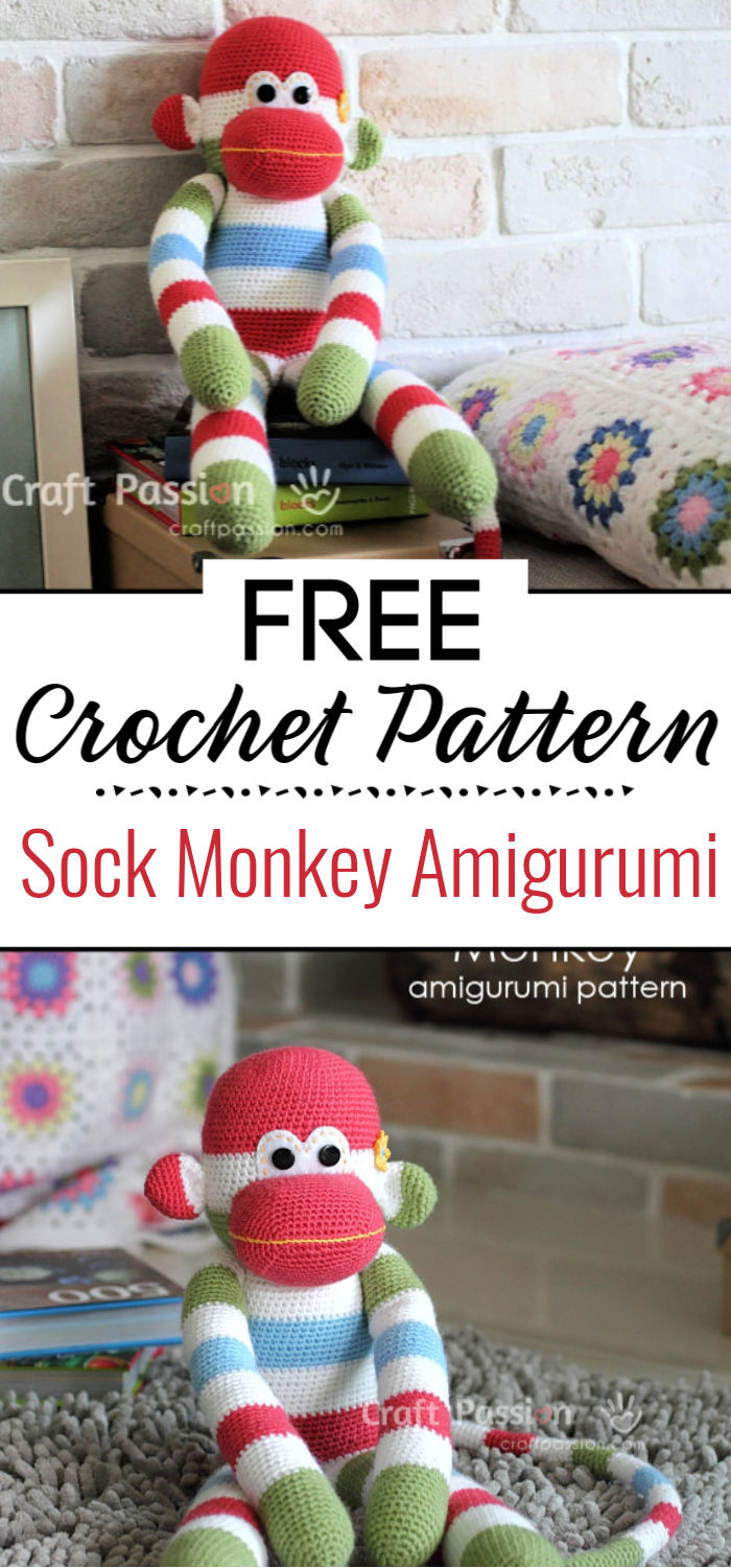 Sock Monkey Amigurumi Pattern