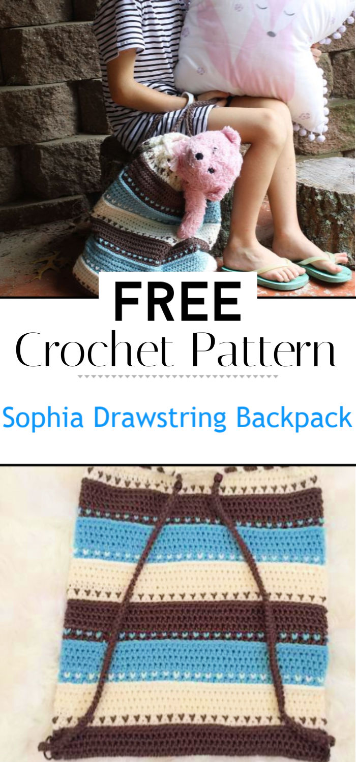 The Sophia Drawstring Backpack Free Crochet Pattern