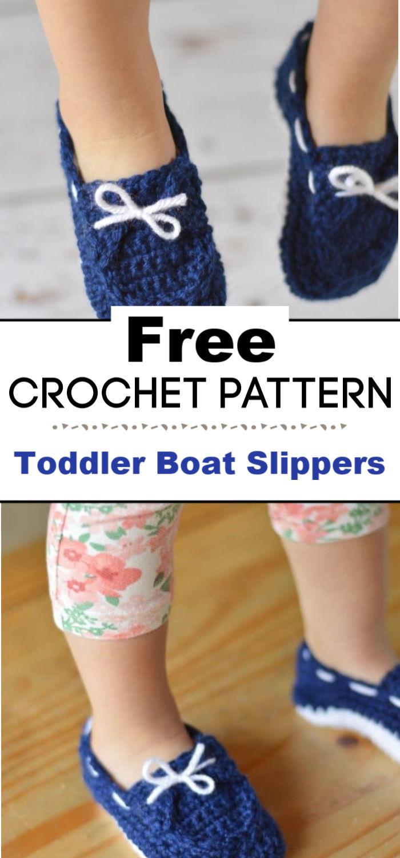 Toddler Boat Slippers Crochet Pattern