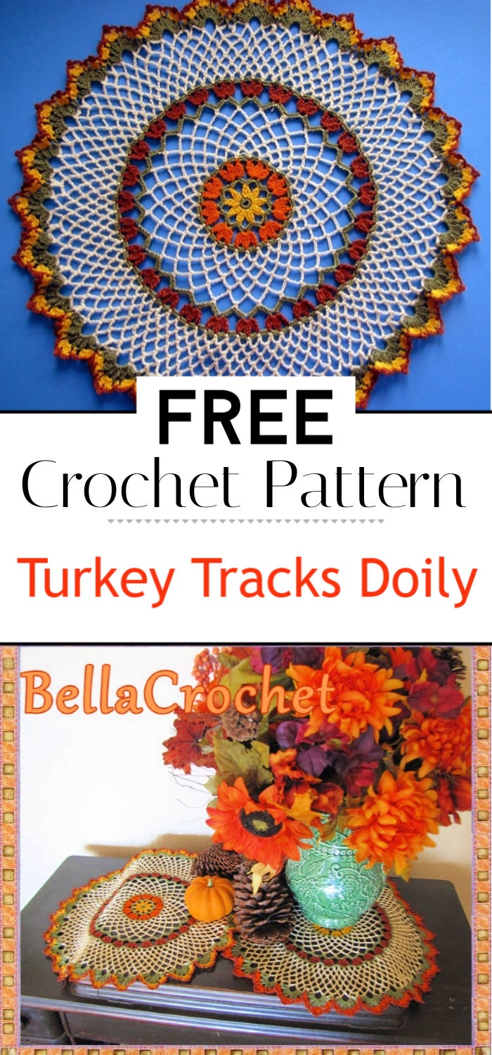 Turkey Tracks Doily A Free Crochet Pattern for You